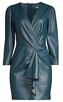 Rebecca Taylor Women's Long-Sleeve Vegan Leather Dress - Size 0