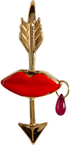 Delfina Delettrez Gold/Enamel/Ruby Elisabeth Single Earring