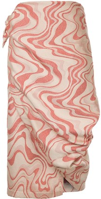 Comme des Garcons Pre-Owned wrap around skirt