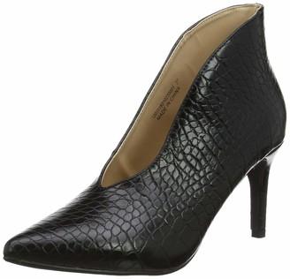 Lost Ink Women's Alyx Textured MID Heel Ankle Boot