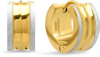 Steel By Design Steel by Design Textured Huggie Hoop Earrings