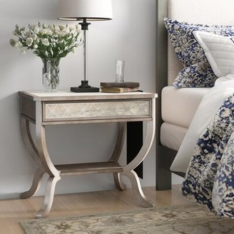 Hooker Furniture Sanctuary 1 - Drawer Solid Wood Nightstand in White/Brown