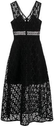 Sandro Paris floral lace dress