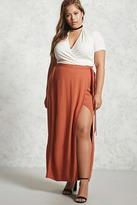 Forever 21 FOREVER 21+ Plus Size Wrap Maxi Skirt
