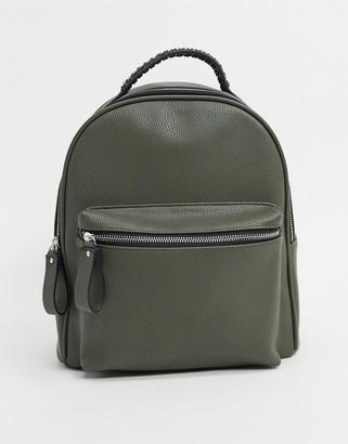 Stradivarius backpack in khaki