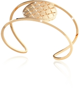 Rebecca Melrose Yellow Gold Over Bronze Cuff Bracelet