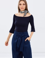 Whistles Frill Cuff Bardot Top