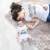 My 1st Years Boss T Shirt And Bodysuit Set