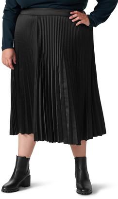 Universal Standard Kniko Pleated Midi Skirt