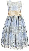 Jayne Copeland Little Girls 2T-6X Lace Sash-Waist Dress