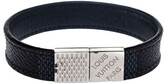 Thumbnail for your product : Louis Vuitton Black Damier Ebene Pull It Bracelet