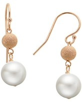 PearLustre by Imperial® 14Kt Rose Gold Filled 8-8.5mm Freshwater Cultured Pearl & Bead fish hook drop earrings