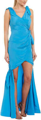 Moschino Ruched Silk Gown
