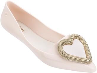 Melissa Pointy Heart Jelly Pointed Toe Flat