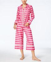 Kate Spade Printed Sateen Top & Cropped Pants Pajama Set