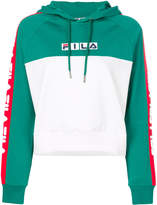 Fila colour-block logo hoodie