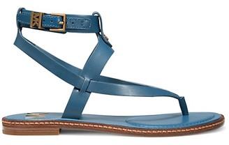 MICHAEL Michael Kors Pearson Leather Toe-Thong Sandals