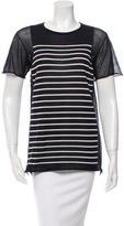 Alexander Wang Short Sleeve Striped Top