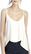 Sole Society Luxe Twill Scallop Tank