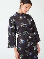 Very Tie Waist Printed Midi Dress - Floral Print