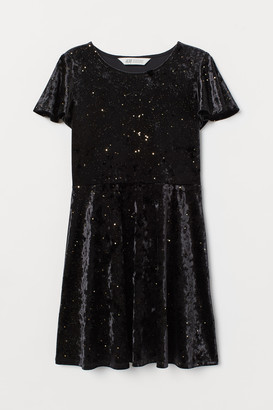 H&M Glittery Velour Dress