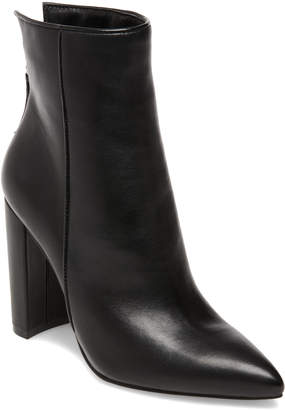 Steve Madden Women's Casual boots BLACK - Black Trista Leather Pointed-Toe Bootie - Women