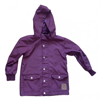 Mini Rodini Burgundy Synthetic Jackets & Coats