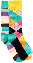 Happy Socks Argyle & Stripes Crew Socks - Pack of 2
