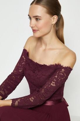 Coast Lace Bodice Bardot Midi Dress