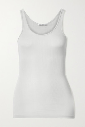 James Perse The Daily Ribbed Stretch-supima Cotton Tank - Light gray