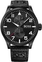 HUGO BOSS Men's Aeroliner 1513083 Leather Quartz Watch