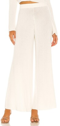Flook The Label x REVOLVE Rib Knit Wide Leg Trouser
