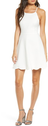 Lulus Play On Curves Strappy Back Skater Dress