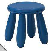 Ikea MAMMUT Children's stool, dark blue (X2)