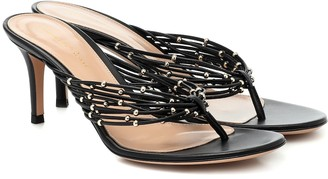 Gianvito Rossi Luxor leather thong sandals