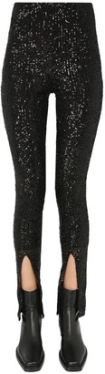 Rotate by Birger Christensen Alicia Sequinned Trousers