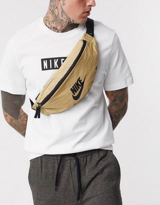 Nike Heritage bum bag in gold