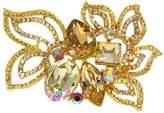 Krustallos Swarovski Crystal Brooch with Multi Floral Leaf Design
