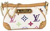 Louis Vuitton White Monogram Multicolore Pochette Milla PM Bag (Pre Owned)