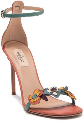 Valentino Flower Ankle Strap Pump