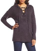 Coco + Jaimeson Lace-Up Hoodie Sweater