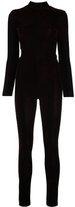 Alchemy Fitted Velvet Jumpsuit