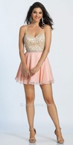 Dave and Johnny Spaghetti Strap Sweetheart Beaded Cocktail Dress