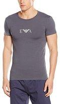 Emporio Armani Men's Stretch Cotton Logo Crew Neck T-Shirt