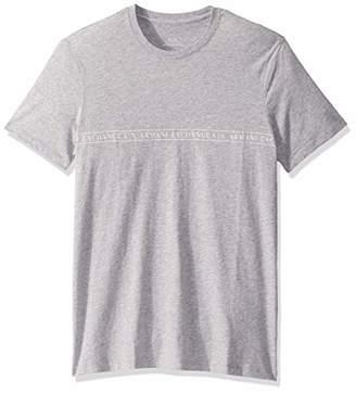 Armani Exchange A|X Men's Crew Neck Short Sleeve T-Shirt with Logo Stripe