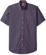 Cinch Men's Classic Fit Short Sleeve Button One Open Pocket Print Shirt