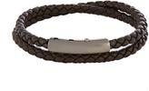 Bottega Veneta Intrecciato double leather bracelet
