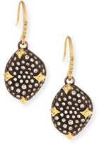 Armenta Old World Blackened Bean Drop Earrings with Diamonds