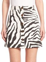 ADAM by Adam Lippes Printed Mini Skirt