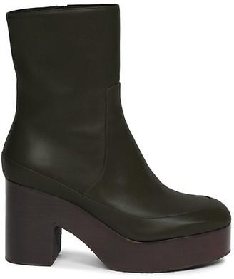 Dries Van Noten Leather Platform Boots